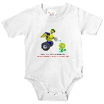 Robot on baby clothes
