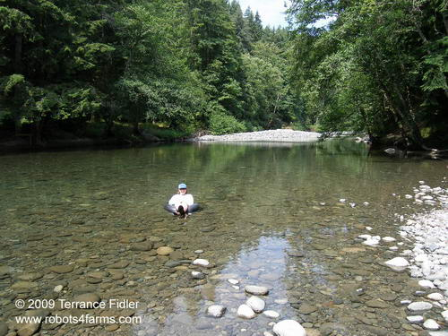 Tubing in the Chemainus River