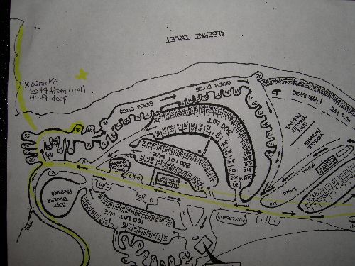 China Creek Campground map