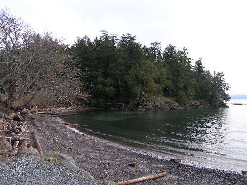 Elliot Beach Park - the beach - Elliot's Beach Park Ladysmith - scuba diving site vancouver island british columbia canada